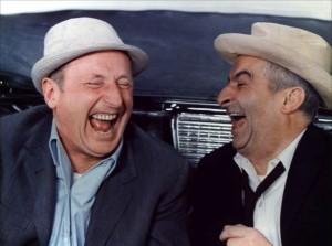 Bourvil et De Funés rient aux éclats