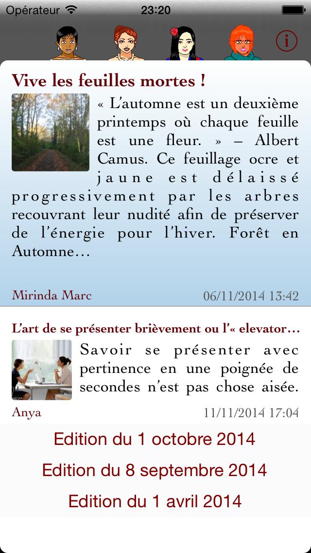 Capture d'écran iPhone iOS5
