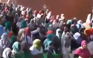 Manifestation des femmes d'In-Salah contre la fracturation hydraulique - 2 Février 2015